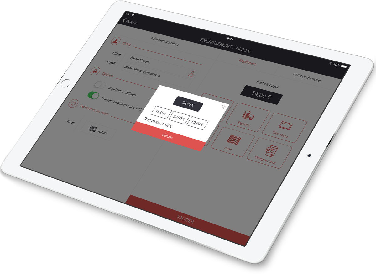Process customer payments quickly with AirKitchen
