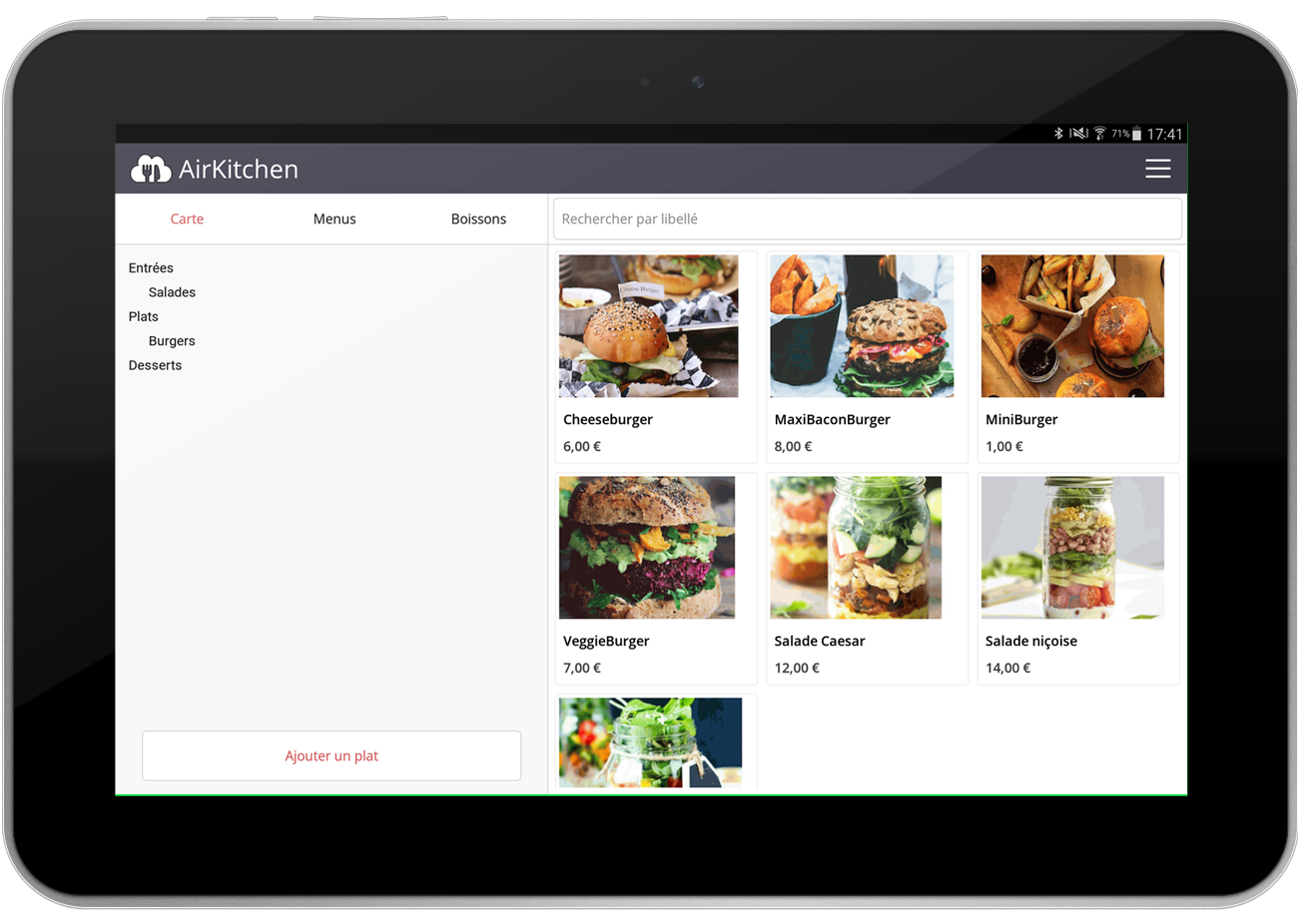 Manage your products and menu